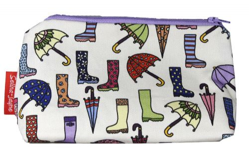 Selina-Jayne Wellies and Brollies Limited Edition Designer Cosmetic Bag
